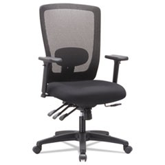 Alera Envy Series Mesh High-Back Multifunction Chair, Black