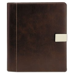 Standard Pad Holder, 8 1/2 x 11, Vinyl, Brown
