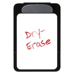 "Magnetic Dry-Erase Clipboard, 3/8"" Capacity, 6 x 9, Black"