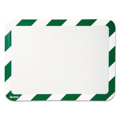 High Visibility Safety Frame Display Pocket-Magnet Back, 10 1/4 x 14 1/2, GN/WH