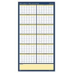 Reversible Yearly Wall Planner, 60 x 26, 2016