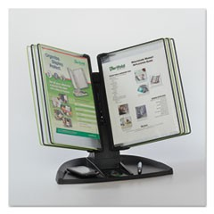 Modular Reference Display Black Line Desk Set, 10 Wire-Reinforced Pockets