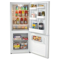 Avantibottom Mounted Frost-Free Freezer/Refrigerator, 10.2 Cubic Feet, White