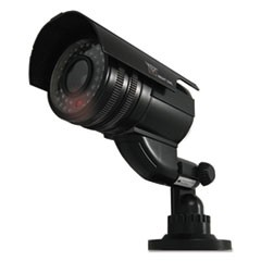 Decoy Bullet Camera with Flashing LED Light, Black