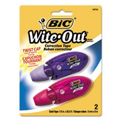 "Wite-Out Mini Twist Correction Tape, Non-Refillable, 1/5"" x 314"", 2/Pack"