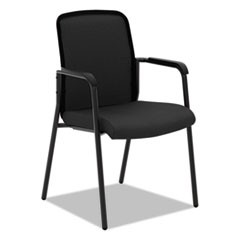VL518 Mesh Back Multi-Purpose Chair with Arms, Black Seat/Black Back, Black Base