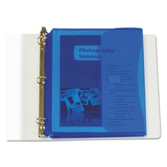 Poly Binder Pockets, 11 1/2 x 9 1/4, Blue, 5/Pack