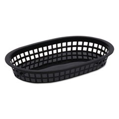 Food Basket, Black, Plastic, Large, 6 7/8 x 1 3/8
