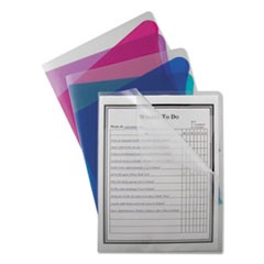 Project Folders with Dividers, Letter, 1/3 Tab, Clear/Colored, 5/PK