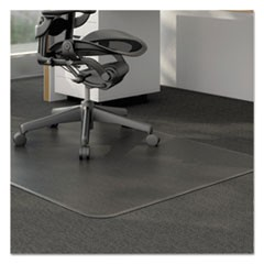 Alera Moderate Use Studded Chair Mat For Low Pile Carpet, 46 X 60, Rectangular, Clear