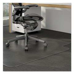 Alera Moderate Use Studded Chair Mat For Low Pile Carpet, 36 X 48, Lipped, Clear