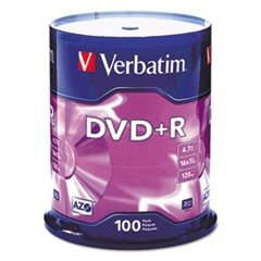DISC,DVD+R,4.7GB,100PK,SR