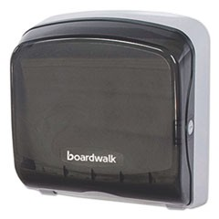 Mini Folded Towel Dispenser, 5 3/8 x 12 3/8 x 13 7/8, Smoke Black