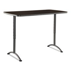 ARC Sit-to-Stand Tables, Rectangular Top, 30w x 60d x 30-42h, Walnut/Gray