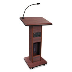 Elite Lecterns with Wireless Sound System, 24w x 18d x 44h, Mahogany