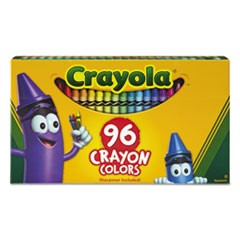 Classic Color Crayons in Flip-Top Pack with Sharpener, 96 Colors