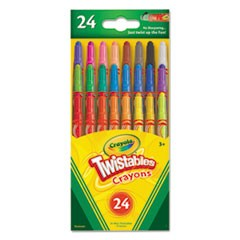 Twistables Mini Crayons, 24 Colors/Pack