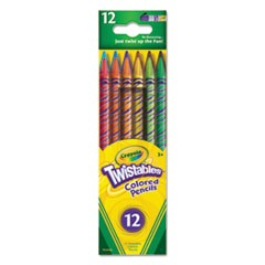 Twistables Colored Pencils, 12 Assorted Colors/Set