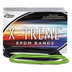 "X-Treme Rubber Bands, Size 117B, 0.08"" Gauge, Lime Green, 1 lb Box, 200/Box"