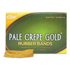 "Pale Crepe Gold Rubber Bands, Size 19, 0.04"" Gauge, Crepe, 1 lb Box, 1,890/Box"