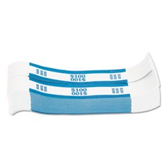 Currency Straps, Blue, $100 in Dollar Bills, 1000 Bands/Pack