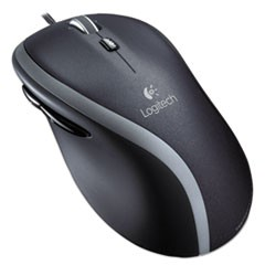 M500 Corded Mouse, USB 2.0, Right Hand Use, Black/Silver