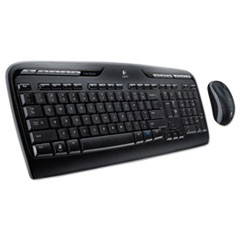 MK320 Wireless Keyboard + Mouse Combo, 2.4 GHz Frequency/30 ft Wireless Range, Black
