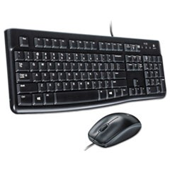 MK120 Wired Keyboard + Mouse Combo, USB 2.0, Black