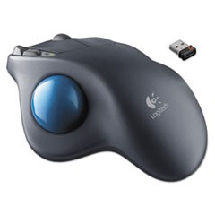 M570 Wireless Trackball, Four Buttons, Scroll, Black/Blue
