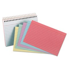 Spiral Index Cards, 4 x 6, 50 Cards, Assorted Colors