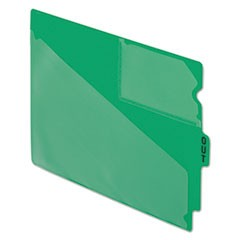 Pendaflex End Tab Poly Out Guides, Center  Out  Tab, Letter, Green, 50/Box