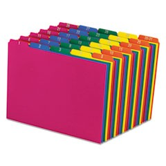Poly Top Tab File Guides, 1/5-Cut Top Tab, 1 to 30-31, 8.5 x 11, Assorted Colors, 31/Set