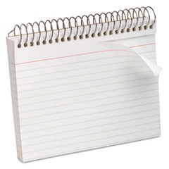 Spiral Index Cards, 4 x 6, 50 Cards, White