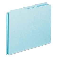 Top Tab File Guides, Blank, 1/3 Tab, 25 Point Pressboard, Letter, 100/Box