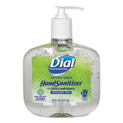 Antibacterial Gel Hand Sanitizer w/Moisturizers, 16 oz Pump, Fragrance-Free