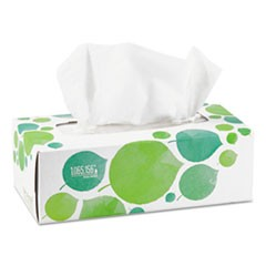 100% Recycled Facial Tissue, 2-Ply, 175/Box