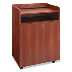 Executive Mobile Presentation Stand, 29-1/2w x 20-1/2d x 40-3/4h, Cherry