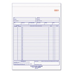 Purchase Order Book, 8 1/2 x 11, Letter, Three-Part Carbonless, 50 Sets/Book
