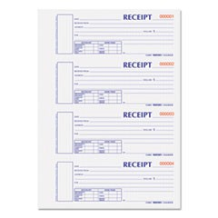 Hardcover Numbered Money Receipt Book, 6 7/8 x 2 3/4, Two-Part, 300 Forms