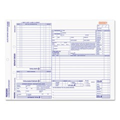 Four-Part Auto Repair Form, 11 x 8 1/2, Four-Part Carbonless, 50 Forms