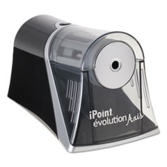 Evolution Axis Pencil Sharpener, Black/Silver, 4 1/4 w x 7d x 4 3/4h