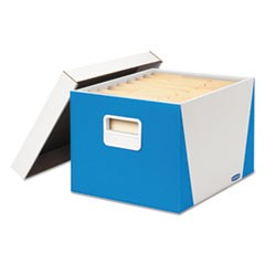 Premier STOR/FILE Medium-Duty Storage Boxes, Letter/Legal, White/Blue, 2/Pack