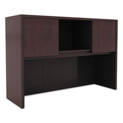 Alera Valencia Series Hutch with Doors, 47.13w x 15d x 35.38h, Mahogany