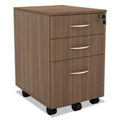Sedina Series Mobile Box/Box/File Pedestal, 15 3/8w x 20d x 26 5/8h, Walnut