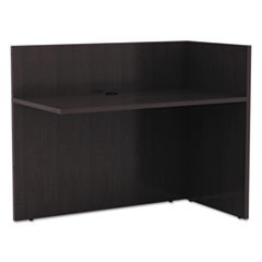 Alera Valencia Reversible Reception Return, 44 1/8w x 23 5/8d x 41 1/2h, Espresso