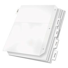 Poly Ring Binder Pockets, 8-1/2 x 11, Clear, 5/Pack
