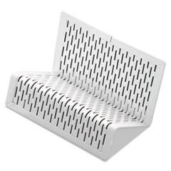 Urban Collection Punched Metal Business Card Holder, Holds 50 2 x 3 1/2, White