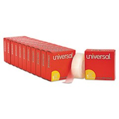 Universal Invisible Tape, 1  Core, 0.75  X 36 Yds, Clear, 12/Pack