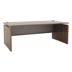 Sedina Series Straight Front Desk Shell, 72w x 36d x 29 1/2h, Walnut