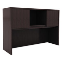 Alera Valencia Series Hutch with Doors, 47w x 15d x 35 1/2h, Espresso